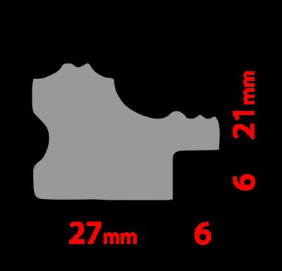 Рама 21х30см (А4) Золото. Дерево