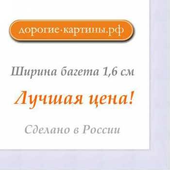 Рама №1104 40x60 см (А2) Белая. Фоторамки. Рамы для картин.
