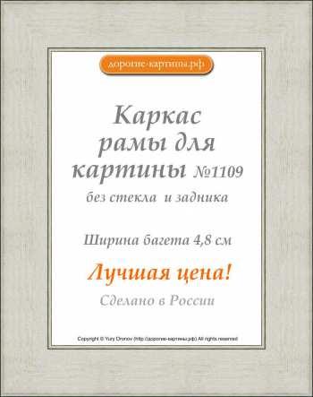 Рама №1109 60x90 см Серебро. Фоторамки. Рамы для картин.