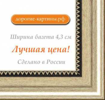 Рама №1114 50x60 см Серебро