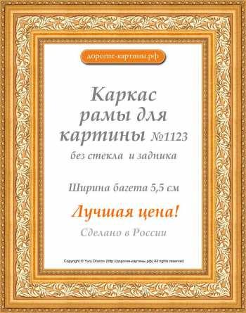 Рама №1123 30x30 см Золото