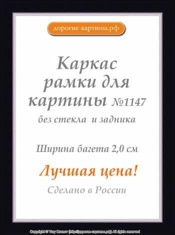 Рама №1147 50x50см Черная