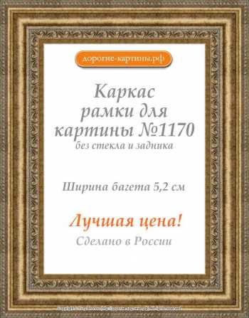 Рама №1170 40x60 см (А2) Золотая