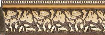 Рама №1093 100x120 см Коричневая с золотом. Фоторамки. Рамы для картин.