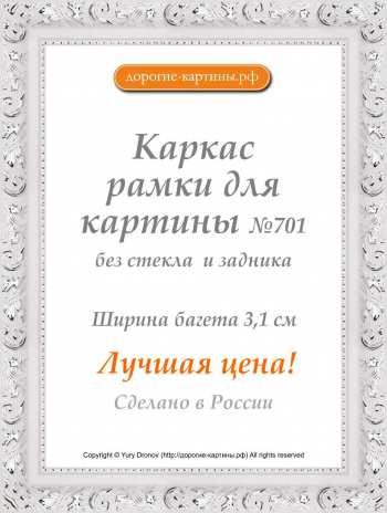 Рама №701 40x50см Белая с серебром