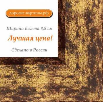 Рама №7109 50x100см Коричневая с золотом