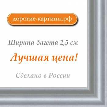Рама №745 42x42см Серебряная