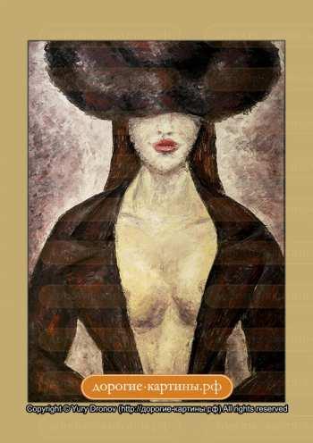 Репродукция Картины Девушка в шляпе. Репродукции Картин. Постеры.