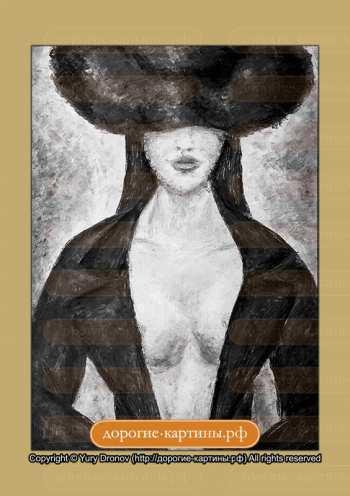 Девушка в шляпе (фрагмент III)