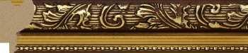 Рама №703 40x40см Коричневая с золотом
