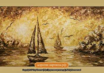 Репродукция Картины Лодки в бухте. Репродукции Картин. Постеры.