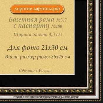 Фоторамка №317 с паспарту для 21x30