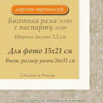 Фоторамка №1091 с паспарту для 15x21