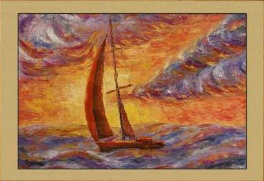 Репродукция Картины Шторм на закате (фрагмент II). Репродукции Картин. Постеры.