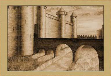 Крепость Каркассон. Рассвет (фрагмент X)