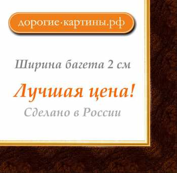 Рама №279 21х30см (А4) Темно-коричневая