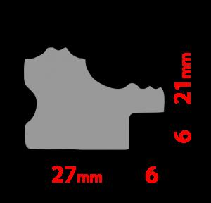 Рамка 30х40см (А3) Белая. Дерево