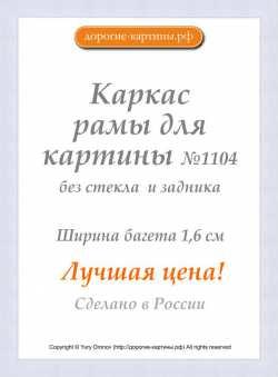 Рама №1104 40x60 см (А2) Белая