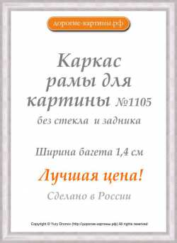 Рама №1105 40x40 см Серебро