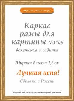 Рама №1106 40x50 см Золото