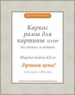 Рама №1109 50x70 см Серебро