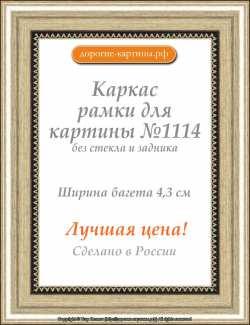 Рама №1114 100x100 см Серебро