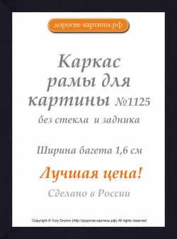 Рама №1125 40x50 см Черная