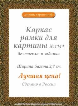 Рама №1144 50x100см Коричневая с золотом
