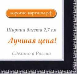 Рама №1155 40x50см Черная с серебром