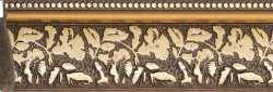 Рама №1093 100x100 см Коричневая с золотом