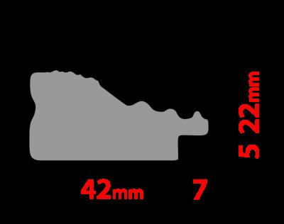 Рама 60х80см (А1) Золото. Дерево