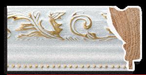 Рама 60x80см (А1) Белая с Золотом. Дерево