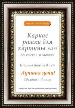 Рама №317 80x100см Серебряная