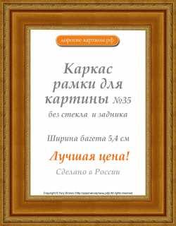 Рама №35 21х30см (А4) Золотая