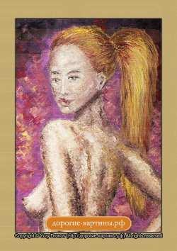 НЮ. Блондинка с бокалом (фрагмент I)