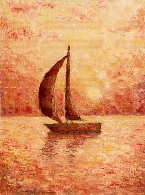Крым. Лодка в закате.