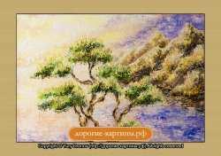 Дерево в лучах солнца (фрагмент I). Картина. Холст. Мосло.