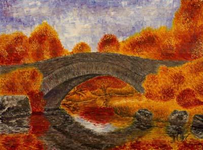 Осень. Мост.