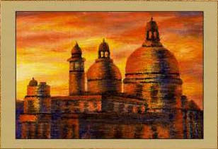 Рассвет в Венеции. Собор Санта-Мария делла Салюте