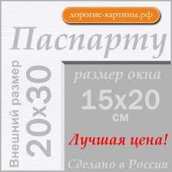 Паспарту А4 20x30 см №194