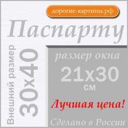 Паспарту А3 30x40 см №194
