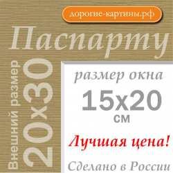 Паспарту A4 20x30 см №167