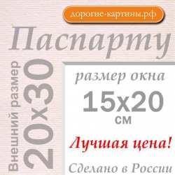Паспарту A4 20x30 см №185
