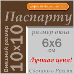 Паспарту 10x10 см №161