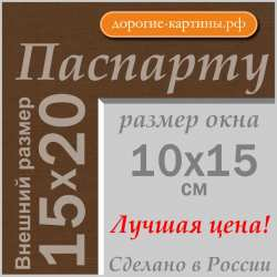 Паспарту A5 15x20 см №161