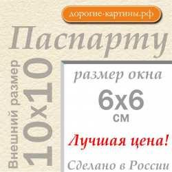 Паспарту  10x10 см №3