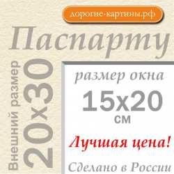 Паспарту А4 20х30 см №3