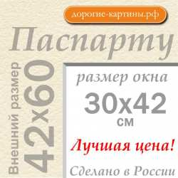 Паспарту А2 42х60 см №3