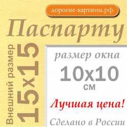 Паспарту 15x15 см №165