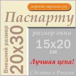 Паспарту 20х30см (А4) №71